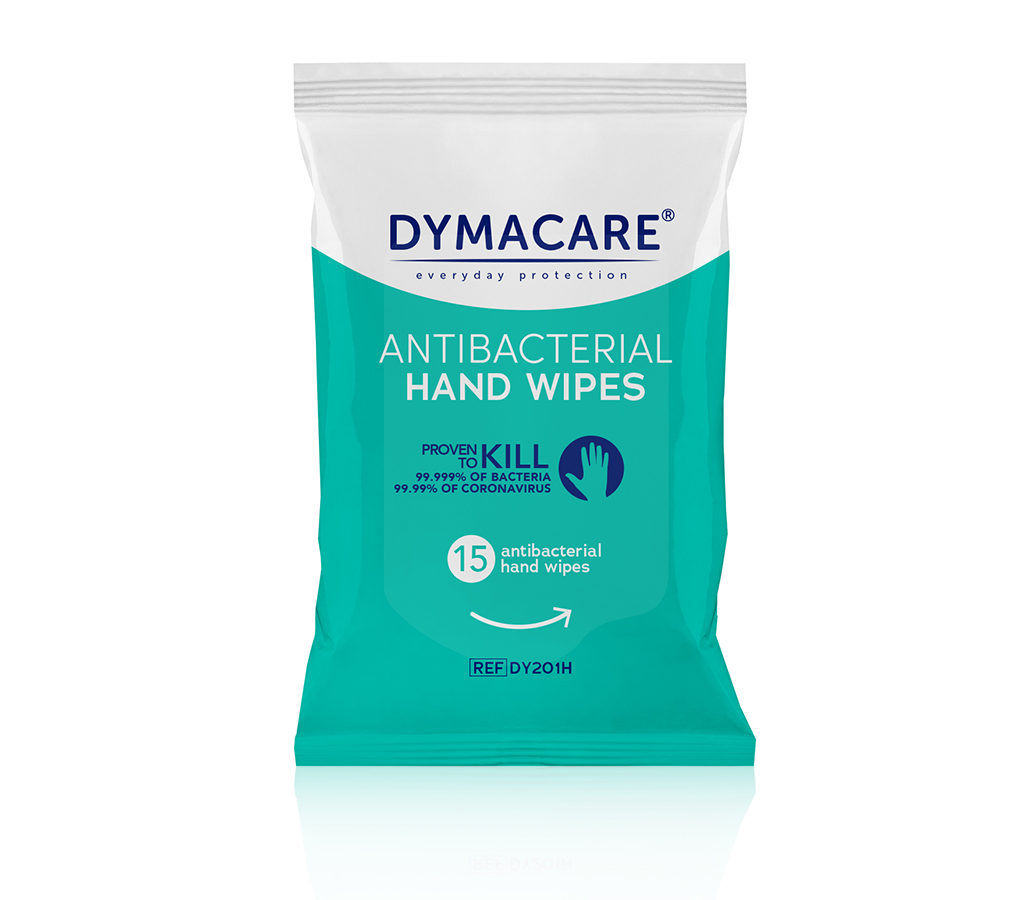 Dymacare Antibacterial Hand Wipes